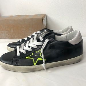 Golden Goose Super-star black low top sneakers
